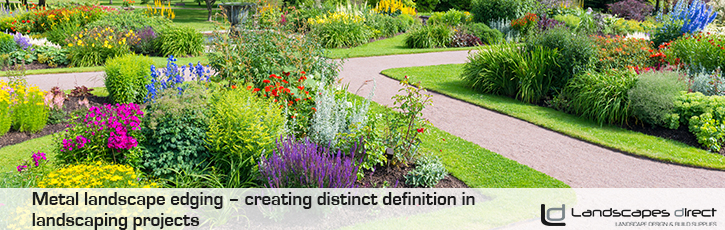 Metal landscape edging – creating distinct definition in landscaping projects